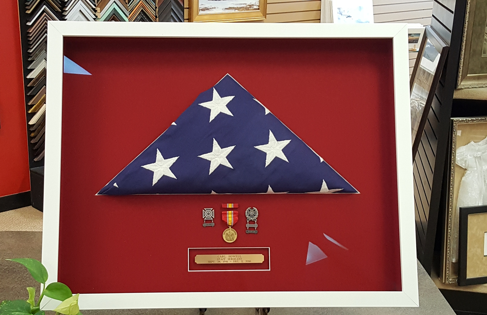 Framing a Folded American Flag