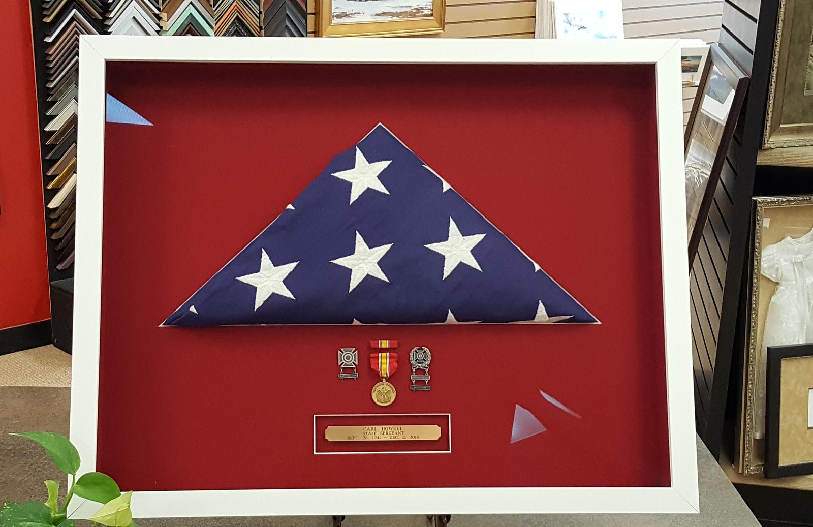 Framing a Folded American Flag